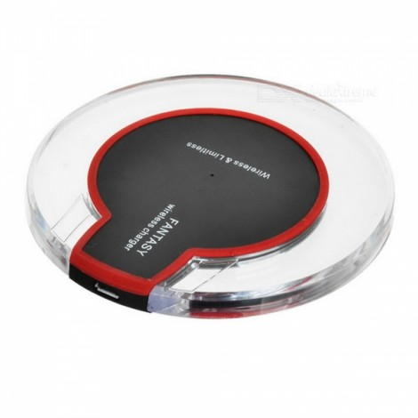 Type-C Qi Wireless Charger Receiver + Wireless Charging Kit for Type-C Mobile Phone Black