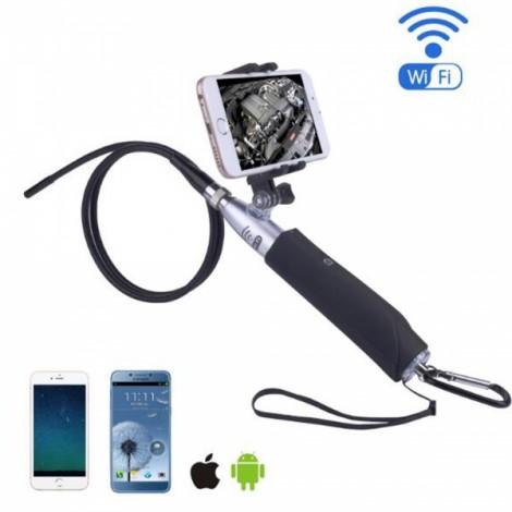ZCF110 8mm New HD 2.0MP IP67 Waterproof 6-LED Light WIFI Endoscope Black & Silver