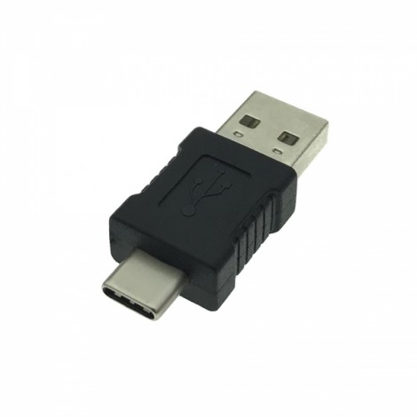 USB 3.1 Type-C Male to USB 2.0 Male Extension Adapter Black