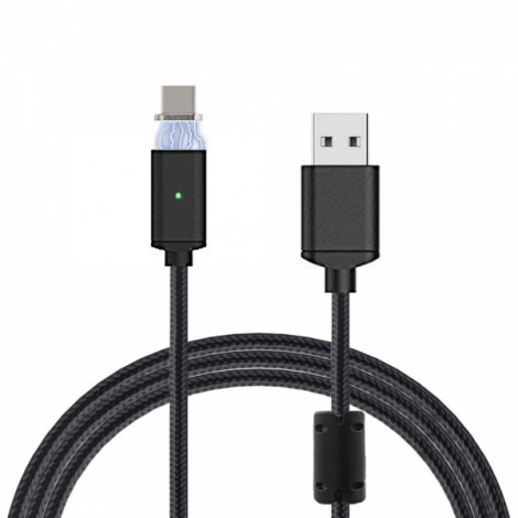 Magnetic Ring Anti-interference USB 3.1 Type-C Detachable Magnetic Braided Charging Data Cable White