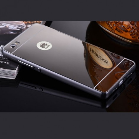 Aluminum Metal Protective Back Cover Case for Huawei P8 Gray
