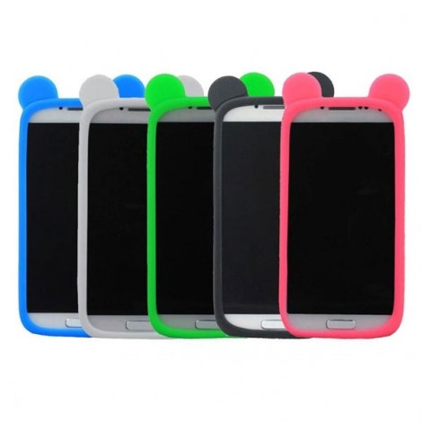 "Candy Color Bear Ears Shaped Universal Soft Bumper Case for 4.0-5.0"" Mobile Phone Random Color"