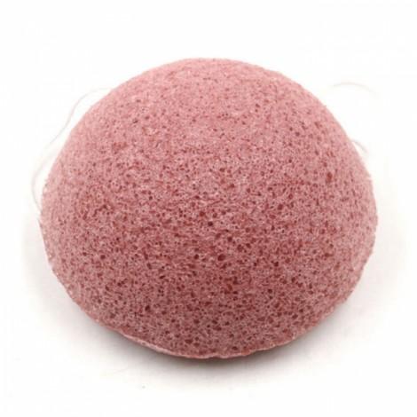 Sakura Konjac Fiber Facial Cleansing Wash Sponge Puff Pad Pink
