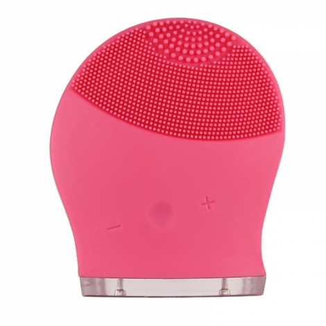 Electric Face Washing Machine Soft Silicone Facial Brush Cleanser Massage - Red