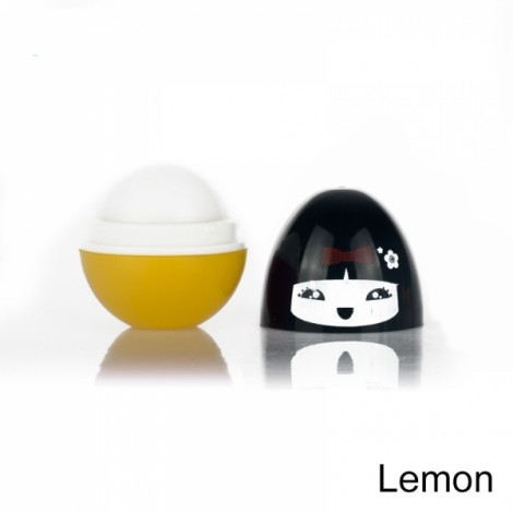 Round Ball Pomade Fruit Fragrance Moisturizer Cute Lip Balm Lemon