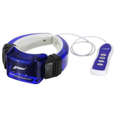 Hot-selling Remote Controlled Neck Vertebra Massager Therapeutic Apparatus Dark Blue