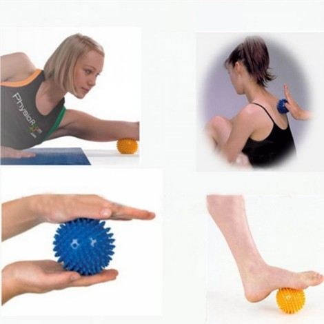 2pcs 9cm Cute Hedgehog Sensory Training Soft Hand Soles Physiotherapy Massage Balls Random Color