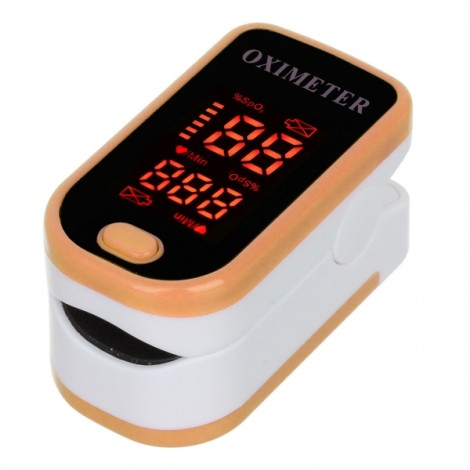 "1.3"" LED Display Fingertip Pulse Oximeter Orange"