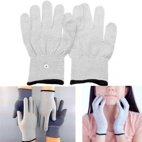 1 Pair TENS Conductive Pulse Electrode Massage Physiotherapy Gloves