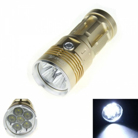 UltraFire Waterproof 6X-T6 6400 Lumen LED Flashlight Lamp Flashlight Golden