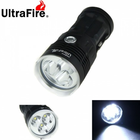 UltraFire Waterproof 3X-T6 3600 Lumen LED Flashlight Lamp Flashlight Black