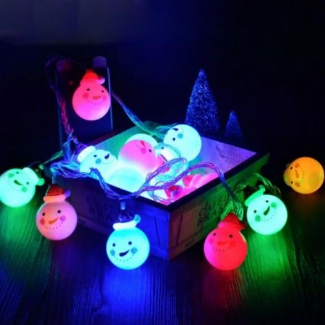 3.5M 20LED Snowman String Fairy Light Christmas Xmas Tree Lamp Decor US Plug