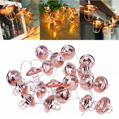 3M 20LED Battery Powered Vintage Romantic Lantern Lampshade Shaped String Light