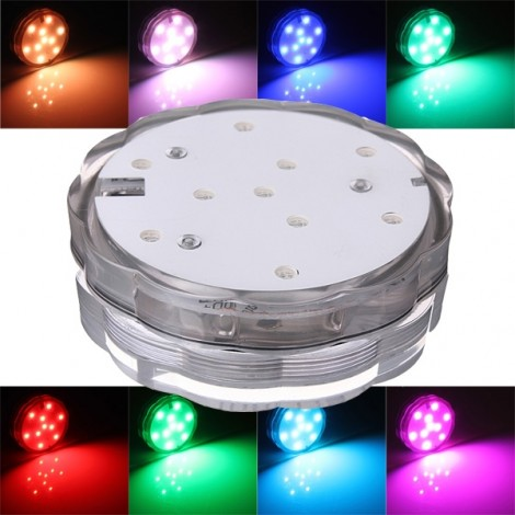 Waterproof LED Multicolor Submersible Party Vase Base Light Lamp RGB