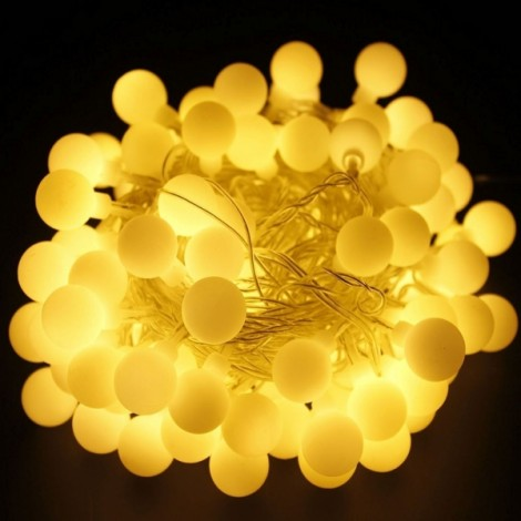 13M 100 LED Fairy Globe String Light Berry Ball Lamp Warm White EU Plug