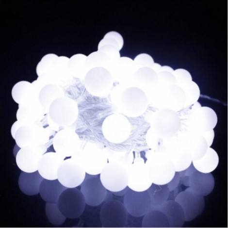 13M 100 LED Fairy Globe String Light Berry Ball Lamp Pure White EU Plug