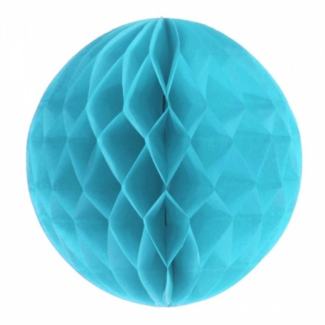 6'' 15CM Tissue Paper Pom Poms Honeycomb Ball Lantern Wedding Party Home Table Decor Sky Blue