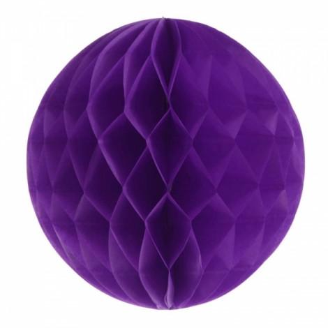 6'' 15CM Tissue Paper Pom Poms Honeycomb Ball Lantern Wedding Party Home Table Decor Dark Purple
