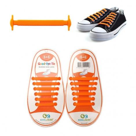 Practical No-tie Lazy Elastic Silicone Shoelace 12pcs