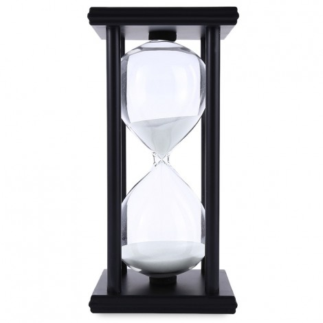 60 Minutes Wooden Hourglass for Kitchen Sandglass Clock