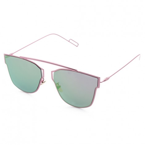 Fashion Coating Mirror Flat Panel Lens Design Sunglasses with Metal Fr