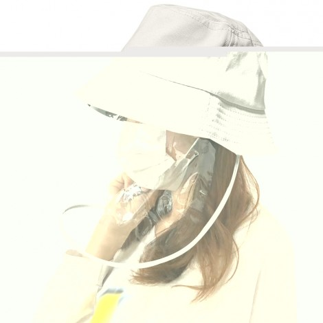 Transparent Protective Hat Anti-saliva Anti-fog Cap Isolation Removabl