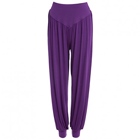 Stylish Elastic Waist Causal Baggy Yoga Pants Trousers Bloomers for La