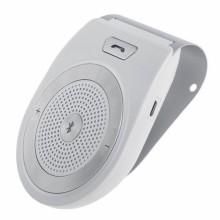 T821 Wireless Hands-free Bluetooth Handsfree Speaker Receiver Car Sun Visor White