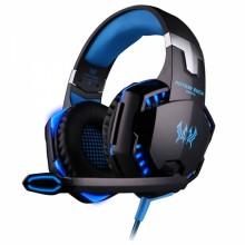 KOTION EACH G2000 Game Headset Stereo Over-ear Headband Mic for PC Blue