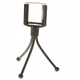 Anti-rust Vertical Tripod for MP4/Cellphones/Digital Cameras Black