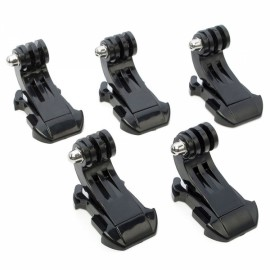 5pcs J-Shape Fast Assembling Mount Buckles for GoPro Hero 4/2/3/3+/SJ4000/SJ5000 Black