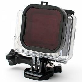 58mm Professional Underwater Dive Filter Converter for GoPro Hero 4/3 + Black & Red