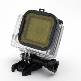 JUSTONE J104 58mm 3-in-1 Professional Underwater Diving Filter Converter Pack for GoPro Hero 3 + Red & Yellow & Pink