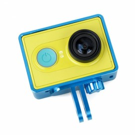 Aluminum Alloy Protective Cover Frame for XiaoMi Yi Sports Camera Blue