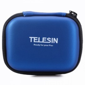 TELESIN Mini Protective Camera Case Bag for GoPro 4 3 3 2 1 Plus SJCAM Xiaomi Yi SJ4000 5000 6000 Camera Blue