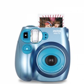 Fujifilm Instax MINI 7s White Instant Film Camera Metallic Blue