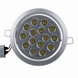 15W 15 LED 1500LM High-power Ceiling Lamp Silver (100-265V)