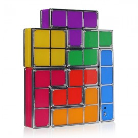 Tetris DIY Constructible Retro Game Style Stackable LED Desk Lamp Multicolor
