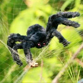 30cm Halloween Bar KTV Decoration Big Plush Funny Tricky Toy Spider Black