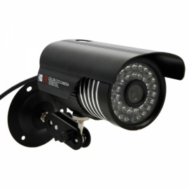 "1/4"" CMOS 1000TVL 6mm 36-LED NTSC IR-CUT Bullet Security Camera Black"