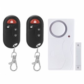 FK9806A2 Home Security Magentic Sensor Door Window Alarm System with 2pcs Remote Controls White