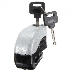 6mm Motorcycle Motorbike Disc Electron Security Lock Alarm Silver