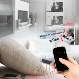 RF Wireless Anti-lost Electronic Key Finder Set Remote Control Alarm Locator with 1pc Transmitter & 2pcs Receivers Black