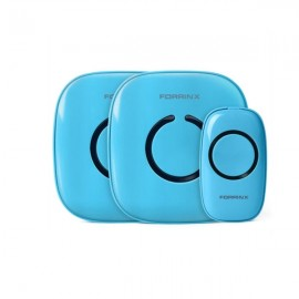 Forrinx 1+2 Smart Digital AC Wireless Remote Control Home Office Doorbell Ring Blue
