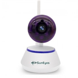 SunEyes SP-S701W 720P HD Mini P2P IP Camera Wireless Wifi Pan/Tilt Two Way Audio Video Push Alarm with Motion Detection Free APP US Plug