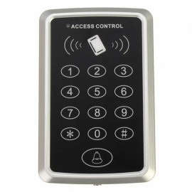 RFID Proximity Card Access Control System RFID/EM Keypad Card Access Control Door Opener Black & Silver