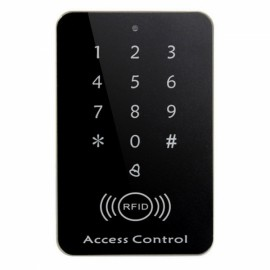 Password Keypad RFID Card Reader Entry Door Lock Access Control Security System Black & Silver