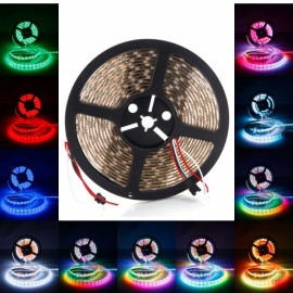 36W SMD5050 5m 300LEDs Red Light Epoxy Waterproof LED Light Strip (White Lamp Plate) (12V)