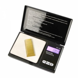 500g x 0.1g Digital Jewelry Scale for Diamond Gold Silver Black Plastic
