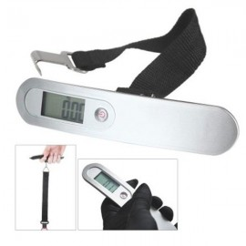 50kg Capacity Mini Portable High Precision Electronic Scale Hand Carry Luggage Digital Weighing Device with LCD Silver
